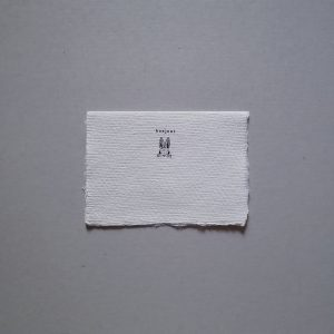 bonjour bunny greeting card