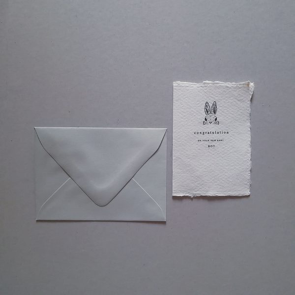 cotton paper custom greetings card