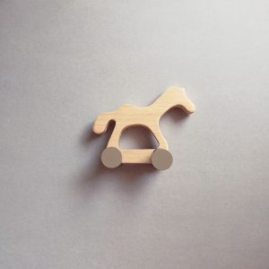 wooden kids retro toy poney