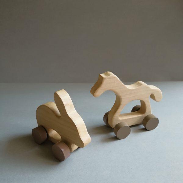 wooden kids retro toys animals