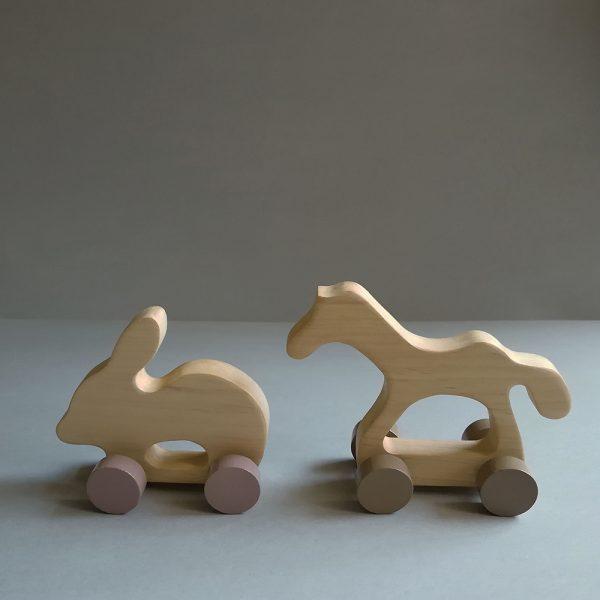 wooden kid retro toys animals
