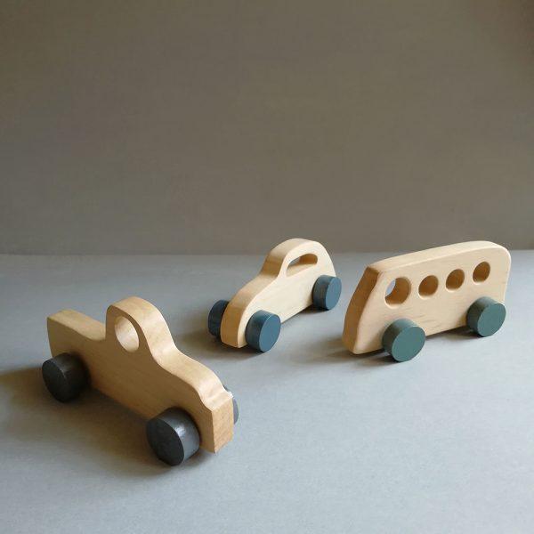 wooden kids retro cars
