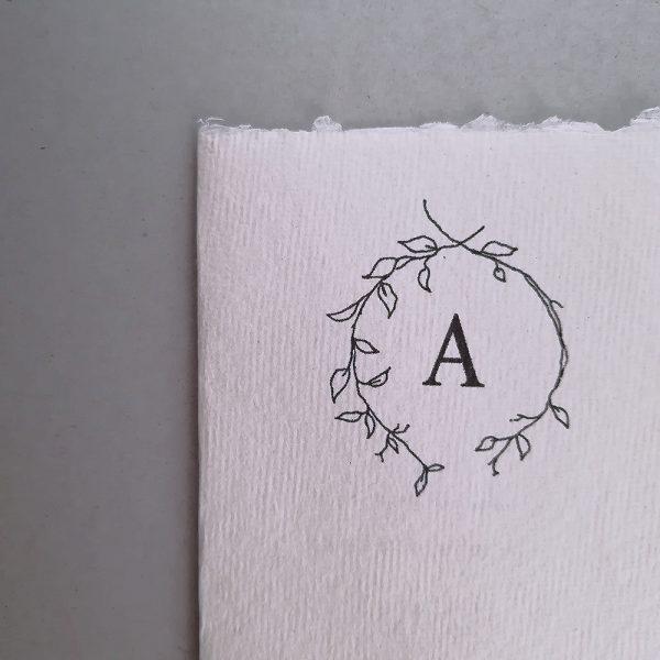 cotton paper custom letter card