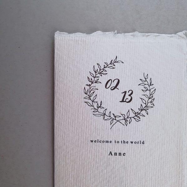 cotton paper custom birthday card