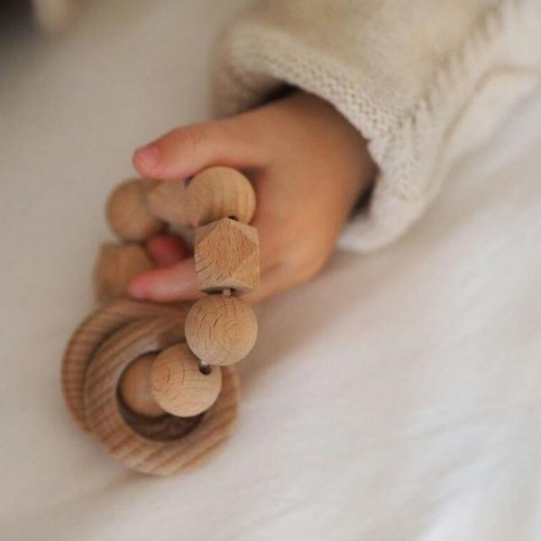 wooden baby teether