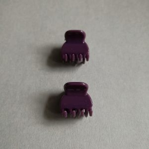 Small hair claw clips - purple