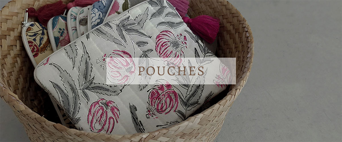 QUILTED BLOCK PRINTED INDIAN POUCHES-1