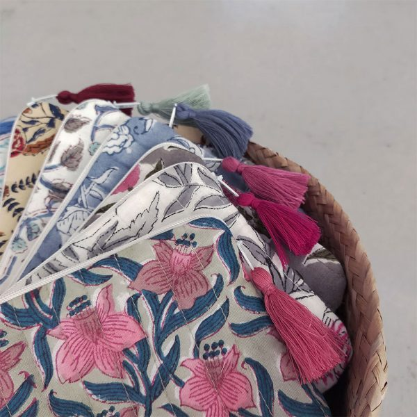 QUILTED BLOCK PRINTED EVERYDAY POUCHES