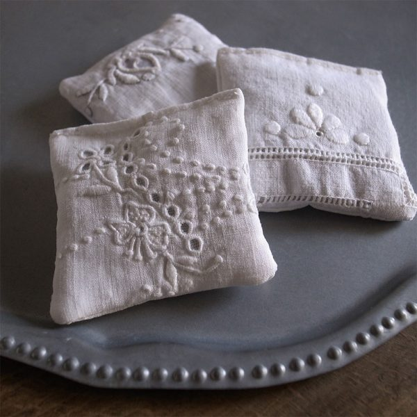 ANTIQE FRENCH LACE LAVENDER POUCHES-4