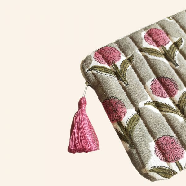 QUILTED BLOCK PRINTED EVERYDAY POUCH-02-1
