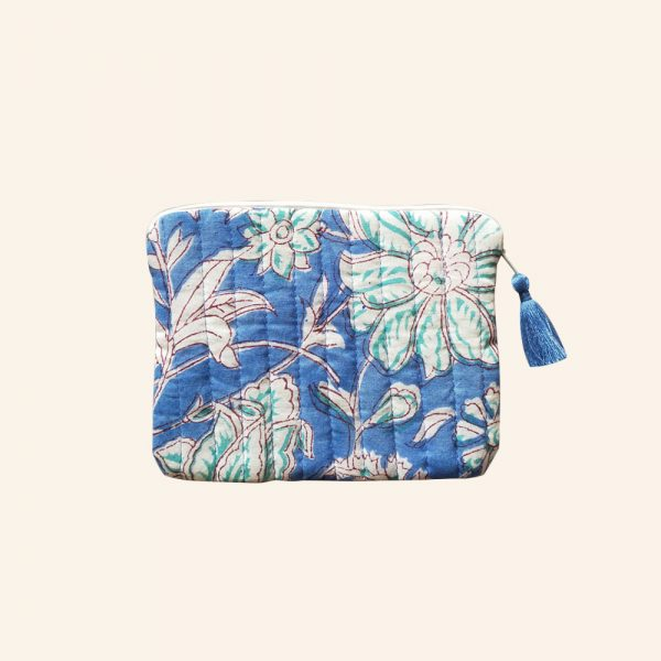 QUILTED BLOCK PRINTED EVERYDAY POUCH-07