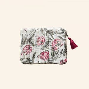 QUILTED BLOCK PRINTED EVERYDAY POUCH-06