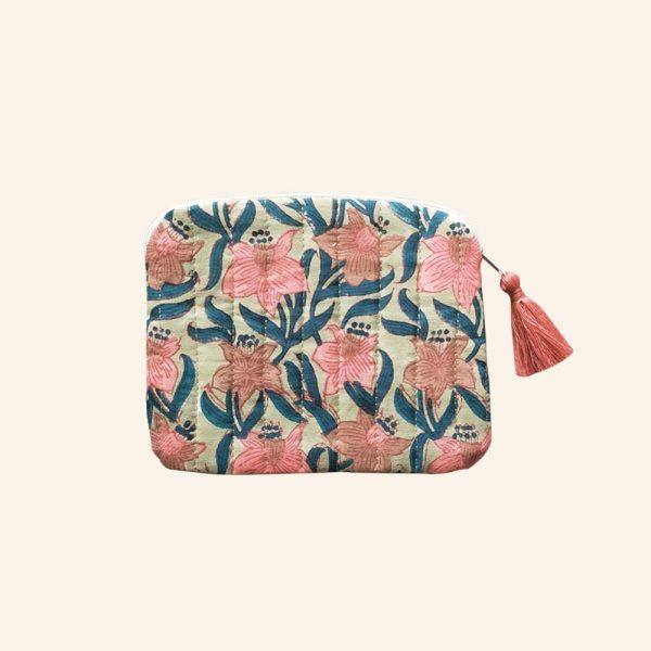 QUILTED BLOCK PRINTED EVERYDAY POUCH-04