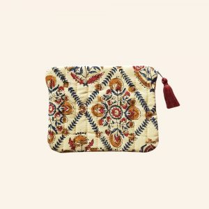 QUILTED BLOCK PRINTED EVERYDAY POUCH-03